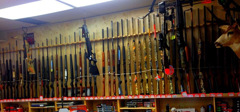 Stillwater Sports Photo of Firearms Wall