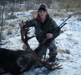 Josh got his first moose with a rifle from Stillwater Sports