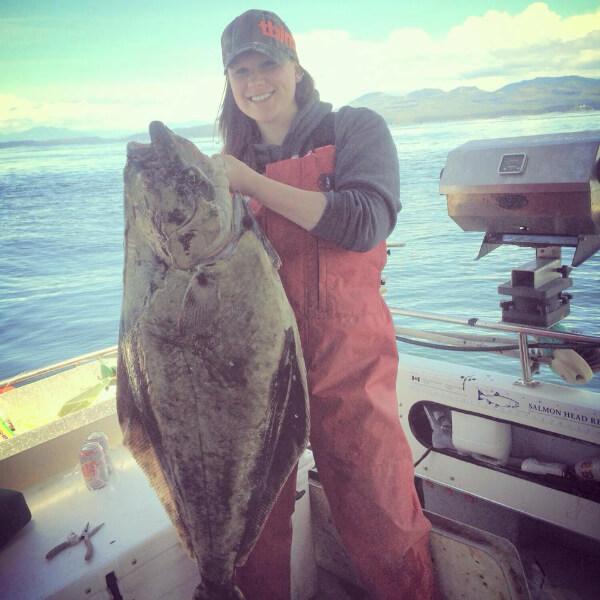 Big Halibut caught in Delta BC