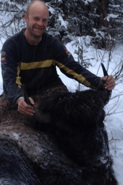 Our client caught a buffalo